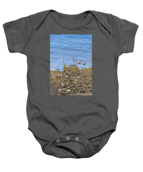 Baby Onesie featuring the photograph Forgotten Line by Stephen Mitchell