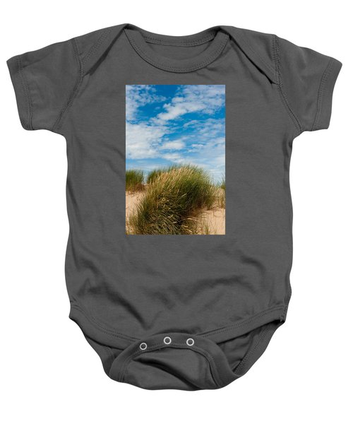 Formby Sand Dunes And Sky Baby Onesie