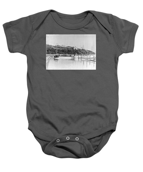 Fort George Amusement Park Baby Onesie by Cole Thompson