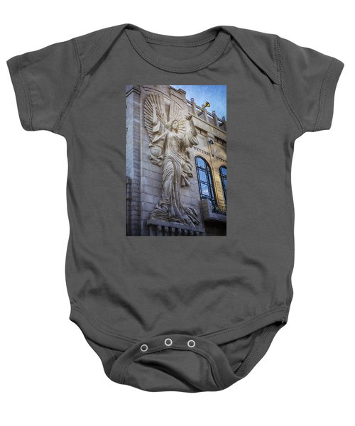 Fort Worth Impressions Bass Hall Angel Baby Onesie