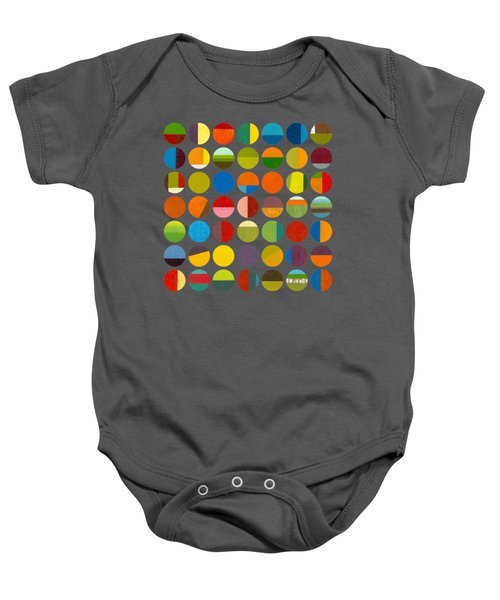 Forty Nine Circles Baby Onesie by Michelle Calkins
