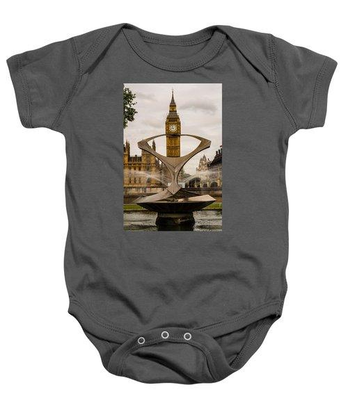 Fountain With Big Ben Baby Onesie