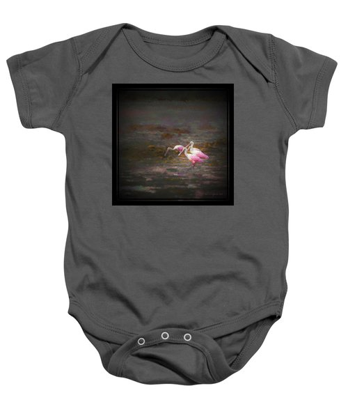 Four Spoons On The Marsh Baby Onesie by Marvin Spates