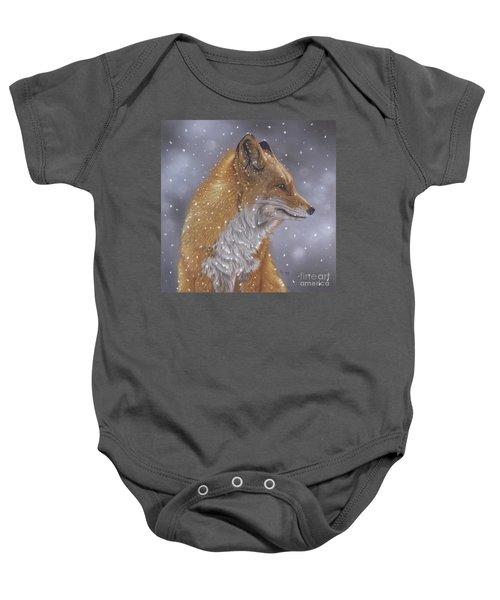 Fox In A Flurry Baby Onesie