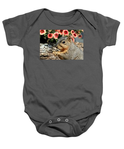 Fox Squirrel Portrait Baby Onesie