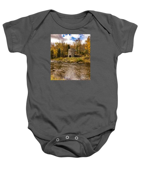 Baby Onesie featuring the photograph Franconia Fall by Anthony Baatz