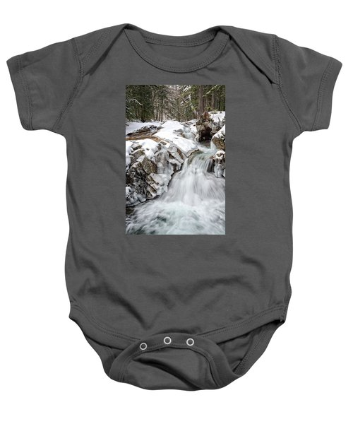 Freeze On The Basin Trail Nh Baby Onesie