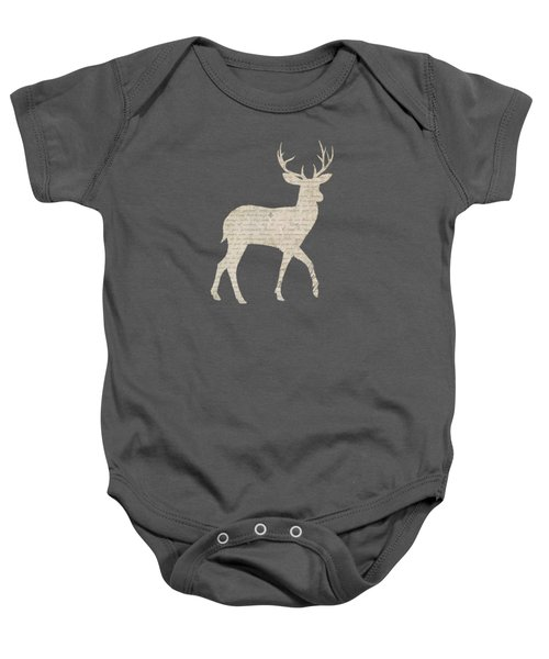 French Script Stag Baby Onesie