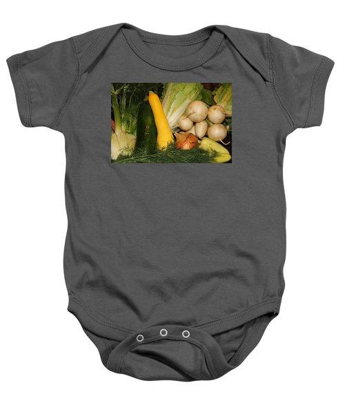 Fresh Garden Produce Baby Onesie