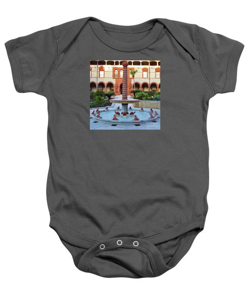 Frog Fountain Baby Onesie
