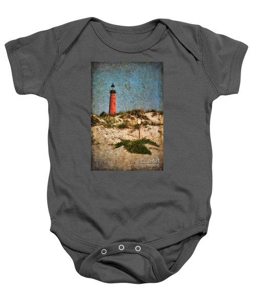 From The Beach Baby Onesie