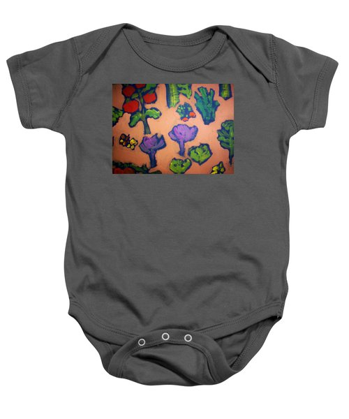 Baby Onesie featuring the painting From The Earth by Winsome Gunning