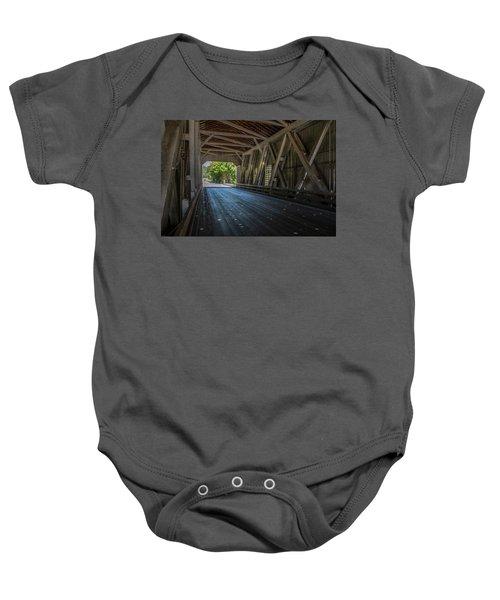 From The Inside Looking Out - Shimanek Bridge Baby Onesie