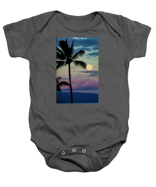 Full Moon And Palm Trees Baby Onesie