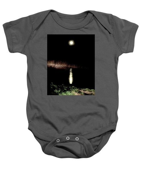 Full Moon Over Piermont Creek Baby Onesie