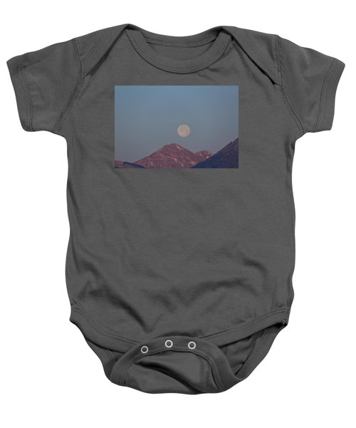 Full Moon Over The Tetons Baby Onesie
