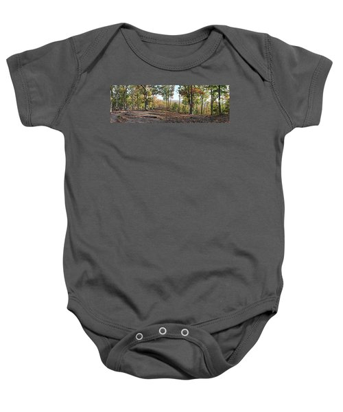 Full Panoramic View From The Summit Of Brown's Mountain Trail Baby Onesie