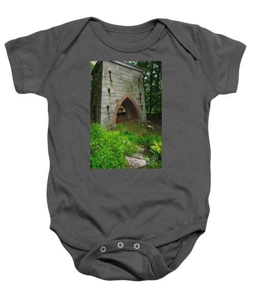 Furnace Of Mine Hill - Historic Iron Blast Furnace Baby Onesie