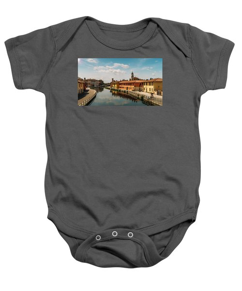 Gaggiano On The Naviglio Grande Canal, Italy Baby Onesie