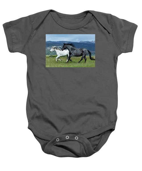 Galloping Through The Scenery Baby Onesie