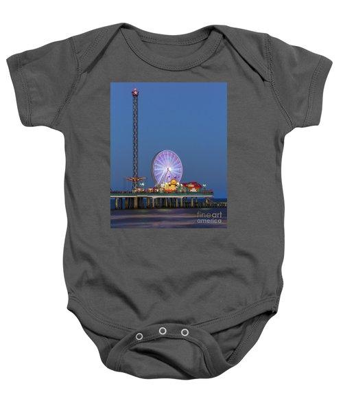 Galveston Pier  Baby Onesie
