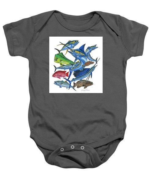Gamefish Collage Baby Onesie