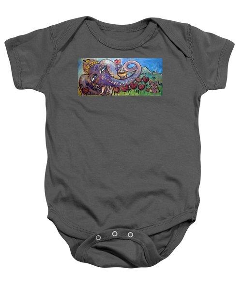 Ganesha With Poppies Baby Onesie