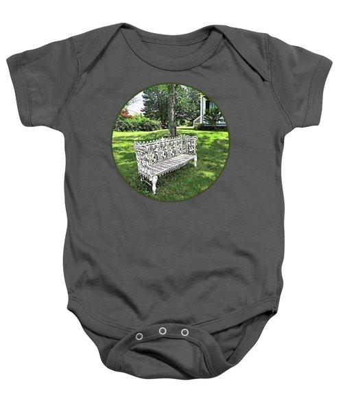 Garden Bench Baby Onesie
