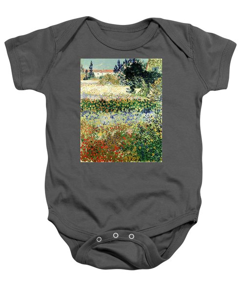 Baby Onesie featuring the painting Garden In Bloom by Van Gogh
