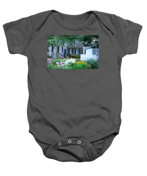 Gardens At The Burton-ingram House - Lewes Delaware Baby Onesie