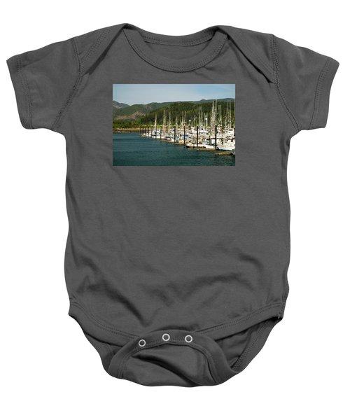 Garibaldi Oregon Marina Baby Onesie