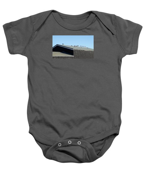 Baby Onesie featuring the photograph Gathering by Pedro Fernandez