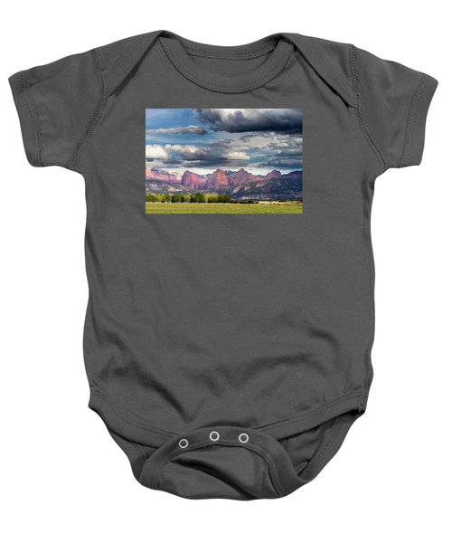 Gathering Storm Over The Fingers Of Kolob Baby Onesie