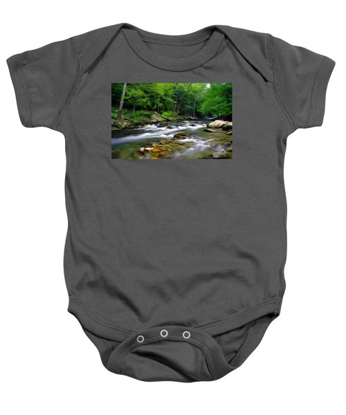 Gatlinburg Stream Baby Onesie