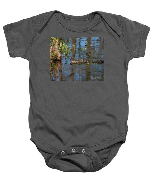 Gator In Cypress Lake 3 Baby Onesie