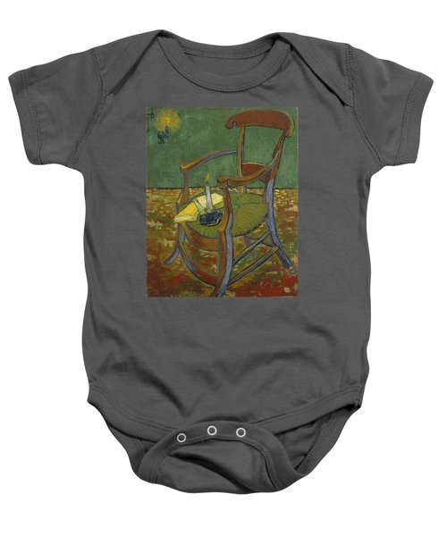 Baby Onesie featuring the painting Gauguin's Chair by Van Gogh