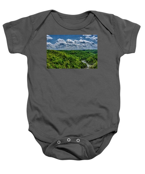 Gauley River Canyon And Clouds Baby Onesie