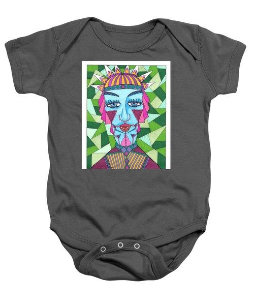 Geometric King Baby Onesie