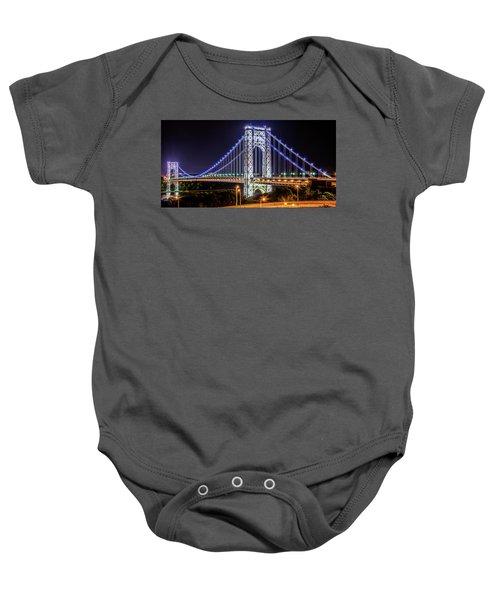 George Washington Bridge - Memorial Day 2013 Baby Onesie