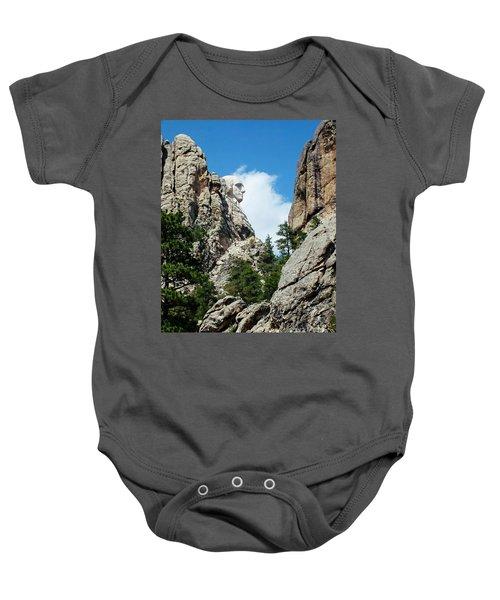George Washinton Profile - Mount Rushmore South Dakota Baby Onesie