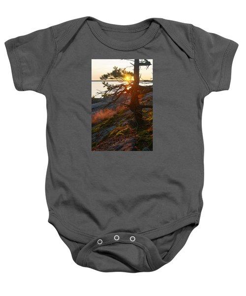 Georgian Bay Sunrise Wild Grass Baby Onesie