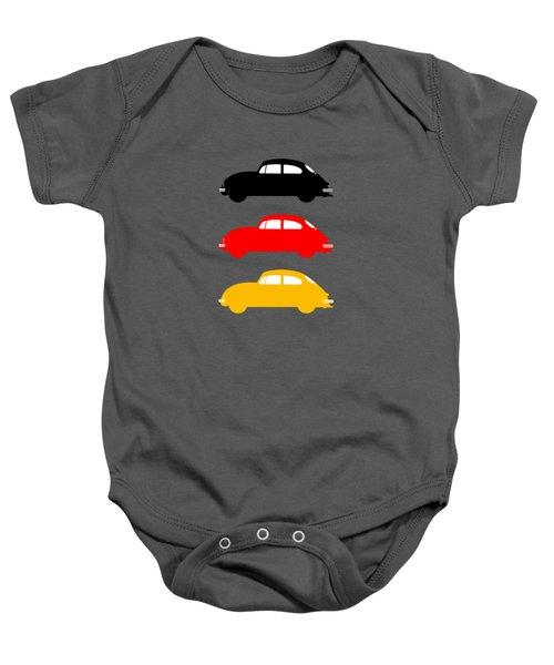 German Icon - Vw Beetle Baby Onesie by Mark Rogan
