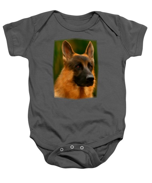 German Shepherd Baby Onesie