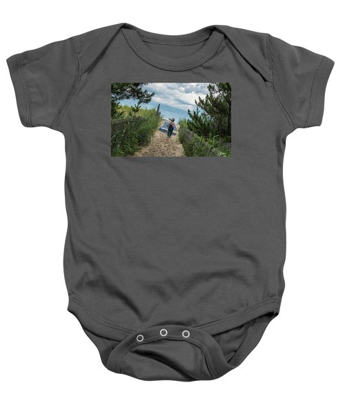 Get To The Beach Baby Onesie