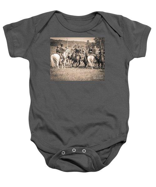 Gettysburg Cavalry Battle 7970s  Baby Onesie