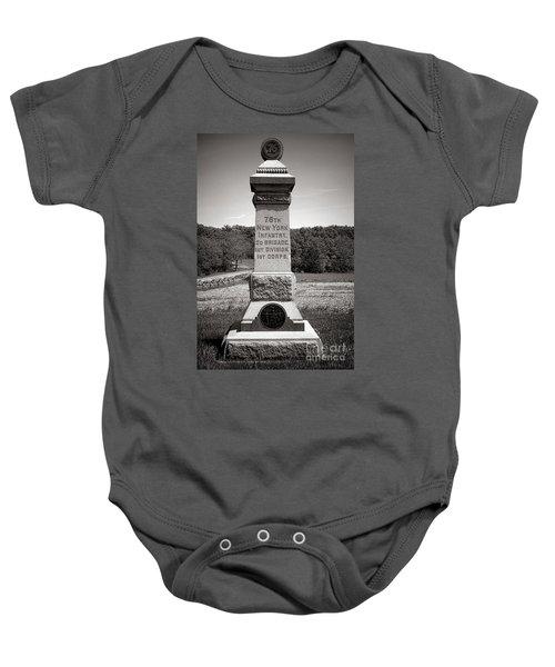 Gettysburg National Park 76th New York Infantry Monument Baby Onesie