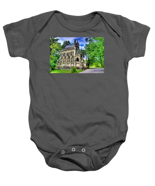 Giant Spring Grove Mausoleum Baby Onesie by Jonny D