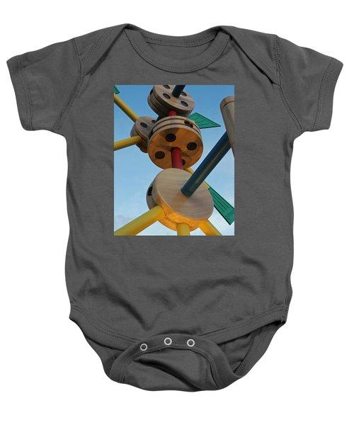 Giant Tinker Toys Baby Onesie
