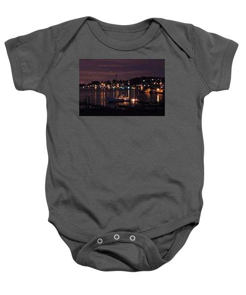 Gig Harbor At Night Baby Onesie