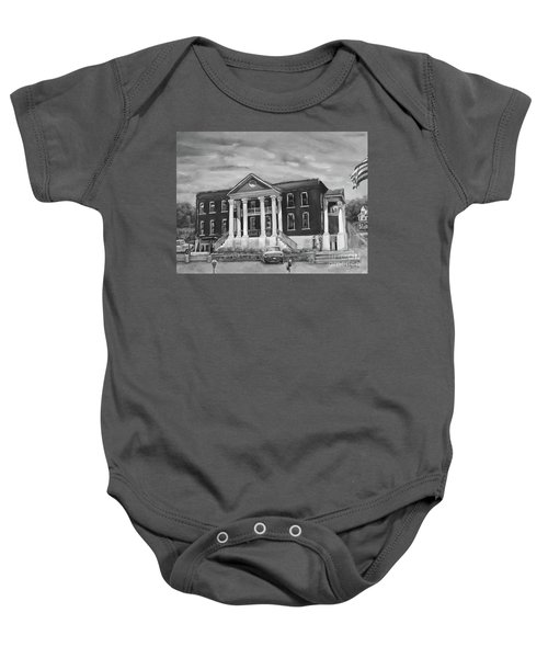 Gilmer County Old Courthouse - Black And White Baby Onesie